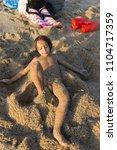 enjoying summer vacation | Shutterstock . vector #1104717359