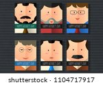 happy father's day vector... | Shutterstock .eps vector #1104717917