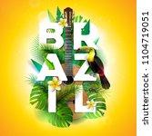 vector brazil typography...   Shutterstock .eps vector #1104719051