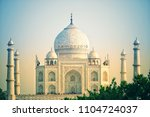 the taj mahal is an ivory white ... | Shutterstock . vector #1104724037