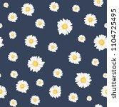 trendy daisy chamomile flowers... | Shutterstock .eps vector #1104725495