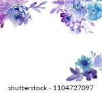 painted watercolor composition... | Shutterstock . vector #1104727097