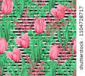 floral seamless pattern ... | Shutterstock .eps vector #1104728717