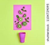 kiwi fresh fruit with mint...