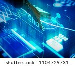 new technology information on a ... | Shutterstock . vector #1104729731
