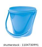 blue plastic bucket for water... | Shutterstock . vector #1104730991