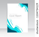 vector design for cover report... | Shutterstock .eps vector #1104734129