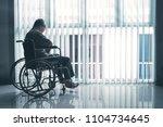 picture of sad elderly man... | Shutterstock . vector #1104734645