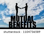 silhouette two men are going to ... | Shutterstock . vector #1104736589