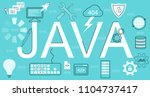 infographic concept of java.... | Shutterstock .eps vector #1104737417