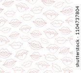 hand drawn vector seamless... | Shutterstock .eps vector #1104737804