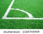 artificial grass of football... | Shutterstock . vector #1104745949