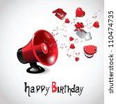 happy birthday red | Shutterstock .eps vector #110474735