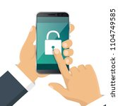 smartphone. iinterface with a... | Shutterstock .eps vector #1104749585