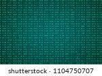 digital binary data and... | Shutterstock .eps vector #1104750707