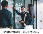 multicultural creative... | Shutterstock . vector #1104753017