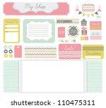 various webdesign elements... | Shutterstock . vector #110475311