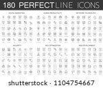 180 modern thin line icons set... | Shutterstock . vector #1104754667