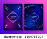 set of creative music posters.... | Shutterstock .eps vector #1104755204