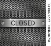 steel long plate closed on... | Shutterstock . vector #1104758669