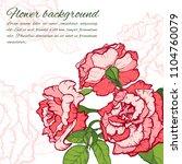 vintage rose. hand drawn vector ... | Shutterstock .eps vector #1104760079