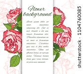 floral background. hand drawn... | Shutterstock .eps vector #1104760085