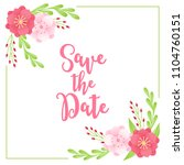 floral wedding cards with...   Shutterstock .eps vector #1104760151