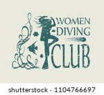 silhouette of diver. graphic... | Shutterstock .eps vector #1104766697