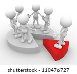 3d people   man  person with a... | Shutterstock . vector #110476727