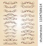 set of decorative elements....   Shutterstock .eps vector #1104768614