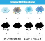shadow matching game. kids... | Shutterstock .eps vector #1104775115
