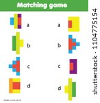 matching game. educational... | Shutterstock .eps vector #1104775154
