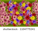 illustration of seamless floral ... | Shutterstock . vector #1104775241