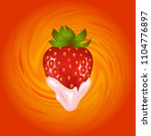 illustration of strawberry and... | Shutterstock . vector #1104776897
