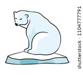 polar bear on an ice floe on a... | Shutterstock .eps vector #1104777791