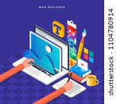 isometric flat design concept... | Shutterstock .eps vector #1104780914