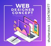 isometric flat design concept... | Shutterstock .eps vector #1104780977