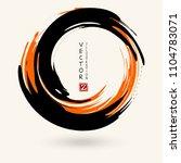 black and orange ink round... | Shutterstock .eps vector #1104783071