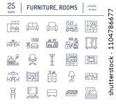 furniture vector flat line...   Shutterstock .eps vector #1104786677