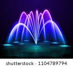 beautiful colorful dancing... | Shutterstock .eps vector #1104789794