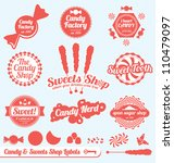 vector set  candy shop labels... | Shutterstock .eps vector #110479097