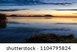 beautiful hungarian sunrise... | Shutterstock . vector #1104795824