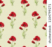 floral seamless pattern with... | Shutterstock . vector #1104799271