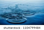 Small photo of Round droplets of water over circles on the pool water. Water drop, whirl and splash. Ripples on sea texture pattern background. Desktop / laptop wallpaper. Closeup water rings affect the surface.