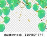poster with shiny green... | Shutterstock .eps vector #1104804974