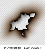 hole torn in ripped paper with... | Shutterstock .eps vector #1104806084