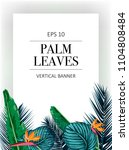 vector exotic pattern with palm ... | Shutterstock .eps vector #1104808484