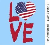 Love Usa  America. Vintage...