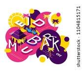 vector creative abstract... | Shutterstock .eps vector #1104815171