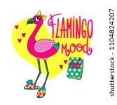 flamingo illustration for... | Shutterstock .eps vector #1104824207